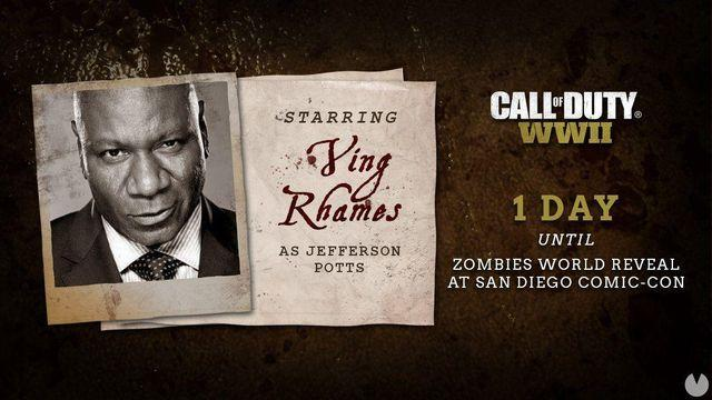 Ving Rhames will appear in the zombies of Call of Duty: WWII