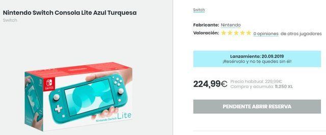 Várias lojas em Portugal colocam preço para Nintendo Switch Lite: Entre 220 e 240 euros