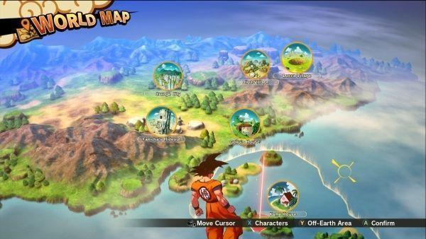 Dragon Ball Z: Kakarot will offer seven major areas to explore