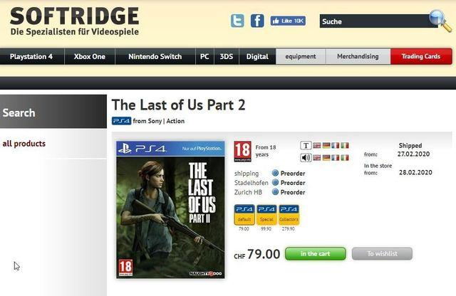 The Last of Us 2: A chain of stores filters its release date: February 28