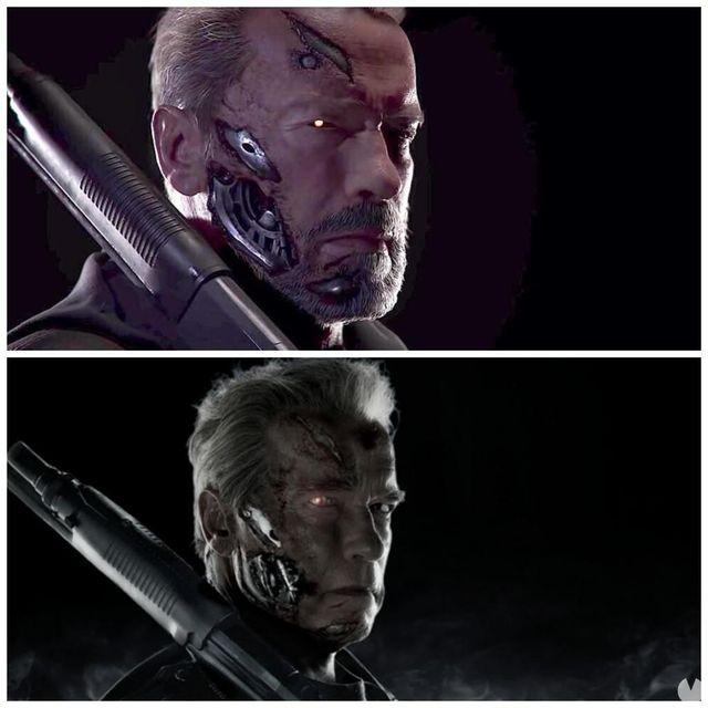 Compare to Arnold Schwarzenegger Mortal Kombat 11 with Terminator: Genisys
