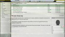 Pantalla Football Manager 2009