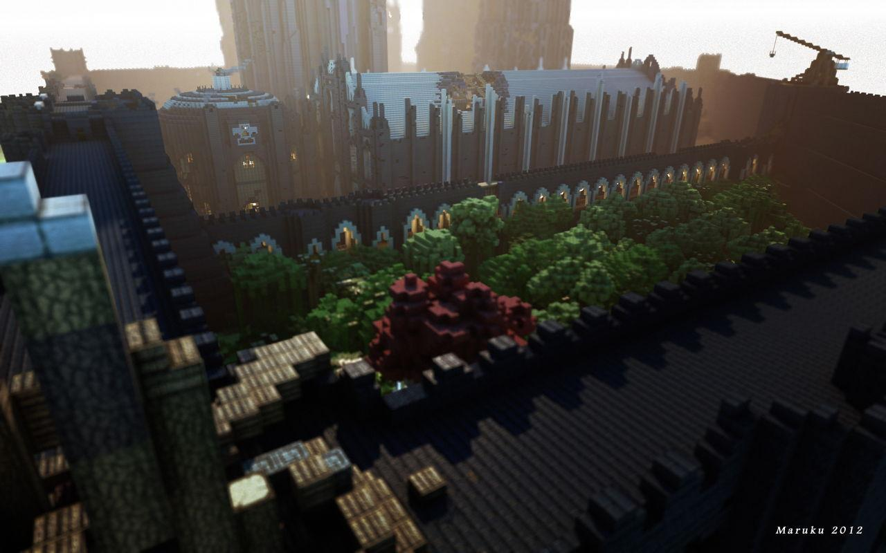 "The recreation of the world of Game of Thrones in Minecraft shows her /> progresos"" </a> <br /> <a target="
