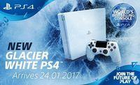 Sony announces a model of PlayStation 4 'Glacier White' for the January 24