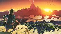 new illustration of The Legend of Zelda: Breath of the Wild recreates an iconic image of the first game of the saga