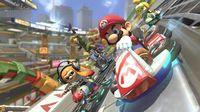 Shown the gameplay of Mario Kart 8 Deluxe