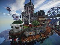Recrean Columbia, city in BioShock Infinite, Minecraft